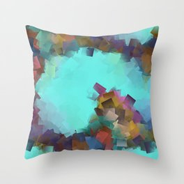 little sqares and rectangles pattern -17- Throw Pillow