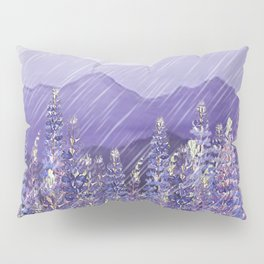 Purple Mountain Rain Pillow Sham
