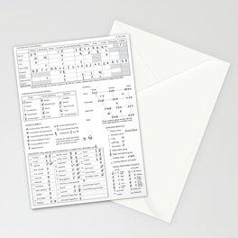 International Phonetic Alphabet IPA Stationery Cards