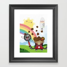Roasted Chestnuts can save the world!!! Framed Art Print