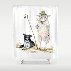 Sheepherd Sheep Shower Curtain