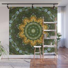 Yellow Tree Flower Kaleidoscope Art 1 Wall Mural