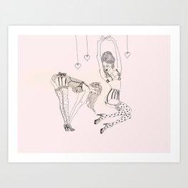 Little Pinups 2 Art Print