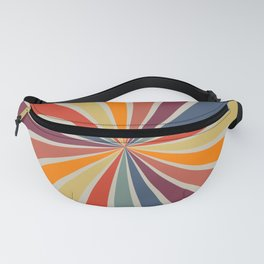 Spiral Stripe Retro Rainbow Fanny Pack