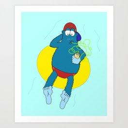 Summer Fun With Dale BigFoot Art Print