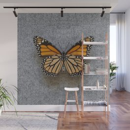 Monarch Butterfly Beneath Wall Mural
