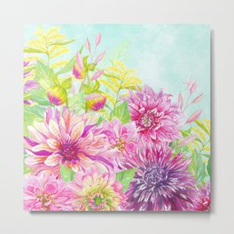 Summer Garden (Sweet Dahlias) Metal Print