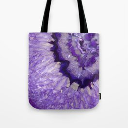 Purple Crystal Tote Bag