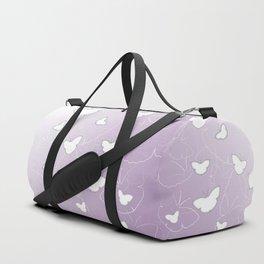 Butterflies | lilac color Duffle Bag