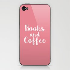 Books and Coffee iPhone & iPod Skin