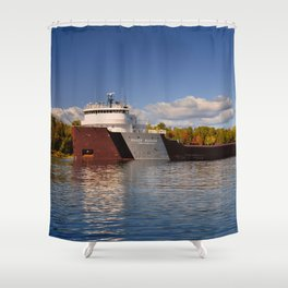 Roger Blough freighter in the Fall Shower Curtain