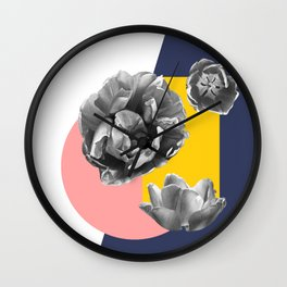 Collateral geometric florals Wall Clock