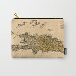 Map Of Hispaniola 1762 Carry-All Pouch