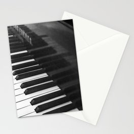 Old grand piano Stationery Cards