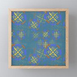 mosaic pattern Framed Mini Art Print