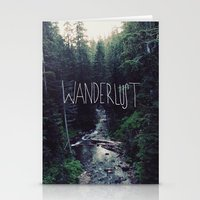marina and the diamonds Stationery Cards featuring Wanderlust: Rainier Creek by Leah Flores