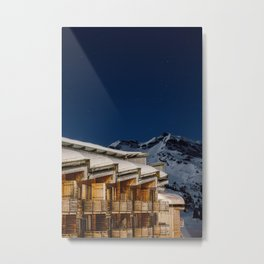 Balconies Mountain and Stars Metal Print
