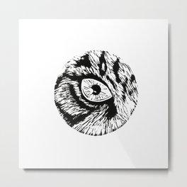 The eye of the tiger - linoprint Metal Print