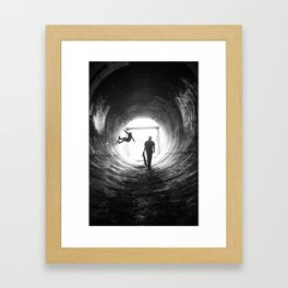 Kick. Push. Coast. Framed Art Print