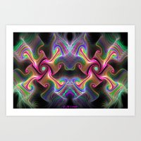 psychedelic art Art Prints featuring Psychedelic by Jim Lowe