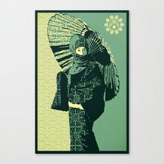ASIAN WOMAN-GREEN VERSION Canvas Print