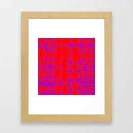 jitter, red violet, 3 Framed Art Print