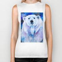 polar bear Biker Tanks featuring Polar bear  by Slaveika Aladjova