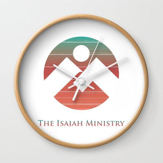 The Isaiah Ministry Logo Wall Clock