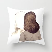 portal Throw Pillows featuring Portal by Isabel Seliger