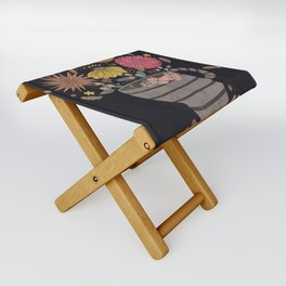 A cup of flowers Folding Stool