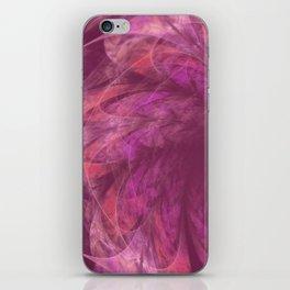 Transparent Purple Petals Fractal iPhone Skin