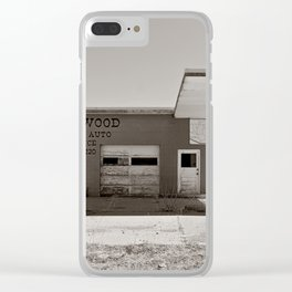 Abandoned Gas Station Clear iPhone Case
