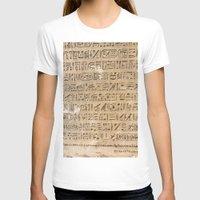 egypt T-shirts featuring Egypt Hieroglyphs by Manuela Mishkova