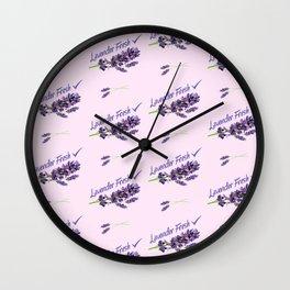Lavender Fresh Pattern (powder pink) Wall Clock