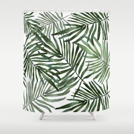 Watercolor simple leaves Shower Curtain