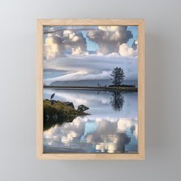 Blue Heron on Tillamook Bay Framed Mini Art Print