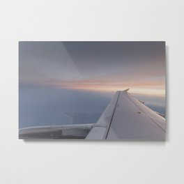 The Setting Sun Flight Metal Print
