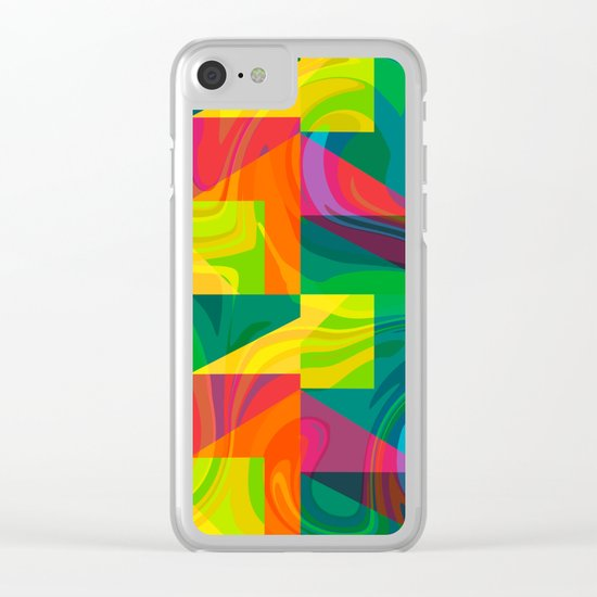Funky geometric pattern Clear iPhone Case