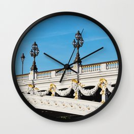 Pont Alexandre IIi - Paris, France Wall Clock