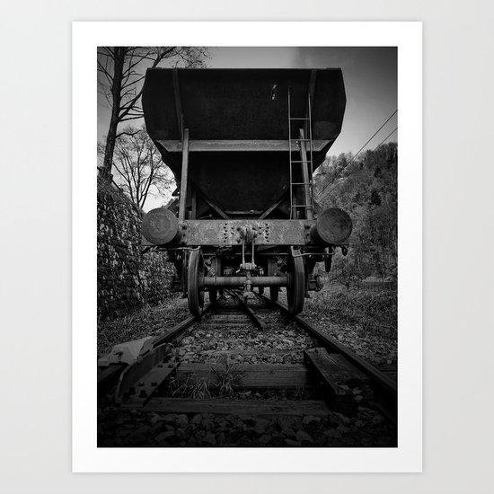 Old Railway Wagon Art Print