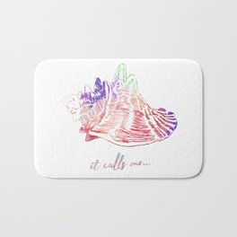 Conch watercolor #3 Bath Mat