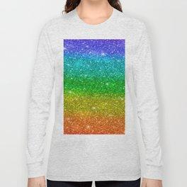 Glitter Rainbow Pride Flag Long Sleeve T-shirt