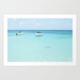 Beautiful Blue Ocean Art Print
