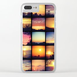 Atardeceres Clear iPhone Case