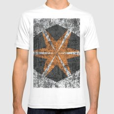 Abstract 9 Mens Fitted Tee White MEDIUM