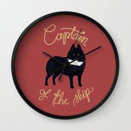 Captain Schipperke (Red and Beige) Wall Clock