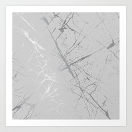 Silver Splatter 089 Art Print