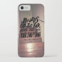 camus iPhone & iPod Cases featuring Camus on Finding the Truth by Josh LaFayette
