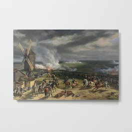 Classical Masterpiece: the Battle of Vernet Valmy by Emile Jean Horace Metal Print