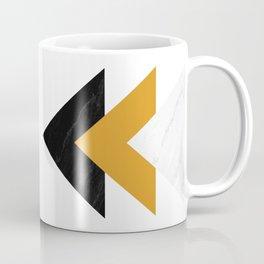 Forward marble yellow arrows Coffee Mug